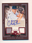 Carlos Rodon 2015 Diamond Kings Signature Material Framed Red Auto 75 #225 RC