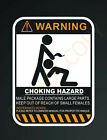 Warning Choking Hazard Vinyl Decal Sticker Funny Jdm Toolbox Bike Hat Shop