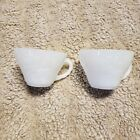 Anchor Hocking Lot of Two Translucent Milk Glass Punch Cups GRAPES