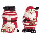 Christmas Holiday Salt and Pepper Shakers Santa Claus Cute Fun Decor Tableware