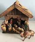 Nativity Set with Manger Made in Germany 12 Piece Set Christmas Decor