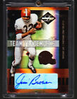 Jim Brown Auto Jersey 2004 Leaf Limited Authentic 1 25 !!!! HOF