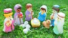 Vintage Empire Complete Set of Blow Mold Christmas Nativity Kids Scene 10 Pieces