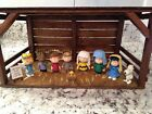 Peanuts Christmas Nativity Deluxe Set with Handmade Wood Manger and Star