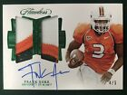 2018 FLAWLESS COLLEGIATE FRANK GORE DUAL GAME USED PATCH AUTO EMERALD GREEN 4 5