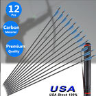 12PC Carbon Fiber Archery Arrow Hunting Crossbow Tips For Compound Recurve Bow