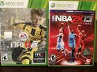 xbox 360 games FIFA17 and NBA2K13 Soccer Basketball excellent condition