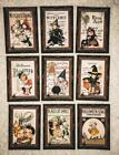Set of 9 Cards Vintage Halloween Dance Greeting Card Toppers Card Making 144N