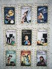 Set of 9 Cards Vintage Halloween Shadows Greeting Card Toppers Card Making 143N