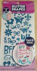 Scrapbooking Glitter shapes BFF stickers