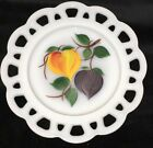 Fire King GAY FAD*FRUITS * LACED EDGE WHITE* 8 1/4