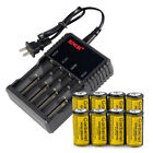 8x Garberiel 3.7V 1800mAh 16340 Battery Original Rechargeable Batteries+Charger