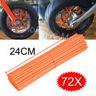 72 Motorcycle Dirt Bike Spoke Skins Covers Wraps Wheel Rim Guard Protector USA