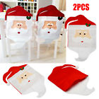 2 4 10 20Pcs Red Santa Claus Christmas Decor Table Decor Dinner Chair Cover LOT
