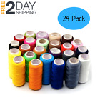 Sewing machine thread set hand stitching quilting spools embroidery upholstery