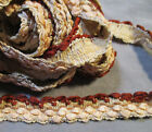 Vintage Woven Trim - Beige to Brown Ribbons - 5 Yards - 3/4