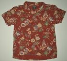 Vtg Polo Jeans Co Ralph Lauren Red Floral Hawaiian S S Polo Shirt Size Large USA