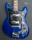 Vintage Cool Blue Teisco Electric Guitar Model ET-220, Made In Japan!!! Whammy!