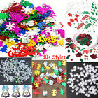 Christmas Iridescent Confetti Sequins Card Scrapbooking Decor Craft Nail Glitter