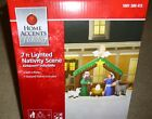 6ft x 7ft Lighted Inflatable Nativity Christmas Scene Stable w Angel Blow up NIB