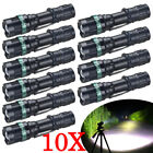 10PCS Ultrafire Tactical 50000Lumens Flashlight Zoomable 3 Modes Torch T6 LED