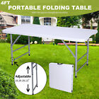 4 Plastic Centerfold Folding Table Portable Indoor Outdoor Picnic Camping