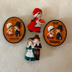 Give Thanks Retro Hard Plastic Thanksgiving Novelty Pins Brooches