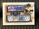 Robin Yount 2008 Topps Sterling Autograph Quad Jersey Bat 03 10 Auto