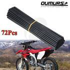 72X Spoke Skins Covers For Motocross Dirt Bike Wheel Rim Guard Protector Wraps