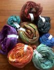 spinning felting mulberry hand dyed silk fiber lot must see