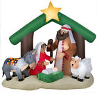 Christmas Inflatable Nativity Scene 6Ft Tall Holy Family Outdoor Lawn Decoration