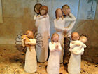 Lot of 5 Willow Tree Demdaco Figurines Together Chrysalis 2 Angels Sisters