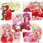 10 STRAWBERRY SHORTCAKE Scratch n Sniff Berry 25 x 25 Party Favor Stickers