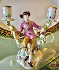 Beautiful Antique - Meissen Kaendler Porcelain Figure Men Candlesticks Figurine