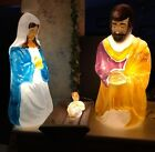 Vtg Rare LIFE SIZE Empire Blow Mold Nativity 3pc Set jesus Christmas 39 Joseph