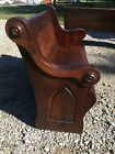 Beautiful Dark Wood Antique Church Pew Spindale NC 51