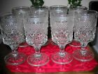 ANCHOR HOCKING WEXFORD (8) Wine/Water Goblets 5-1/4