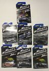 Lot Of 7 Hot Wheels 2013 Fast And Furious Collectible Diecast Cars