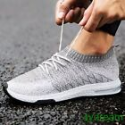 New Lace Up Men Trainers Jogging Breathable Sports Flat Sneaker Leisure Shoe 44