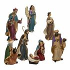 Kurt Adler Resin Nativity Figurine Set 625 Inch Set of 8