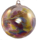 Friendship Ball April 4 Inch Kugel Iridized Witch Ball by Iron Art Glass