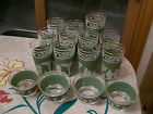 VINTAGE WEDGEWOOD GREEN GREEK HELLENIC GLASSWARE - 23PIECES