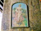 ANTIQUE WOOD PICTURE FRAME ORIG. GLASS NICE PRINT FROM OLD ESTATE 12