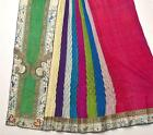 1900's Chinese Multi Colors Gauze Silk Embroidery Skirt Panel Figure Textile