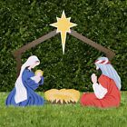 Holy Family Outdoor Nativity Set Figures Collapsible Stable Standard Color