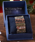 New Tri Color Nativity Christmas Story Scene Jewelry Charms Bracelet in Gift Box