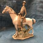 Rare Large Lladro Man on Horse Figurine
