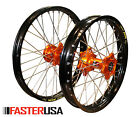 KTM WHEELS KTM525EXC MXC 00-02 SET EXCEL TAKASAGO RIMS FASTER USA HUBS NEW SET