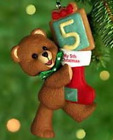 Child's Fifth Christmas Hallmark Ornament 2000 Child's Age Collection