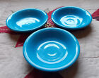 Fiesta Ware Peacock Blue Fruit Bowl Fiesta Bowls 5.25 inches - Lot of 3
